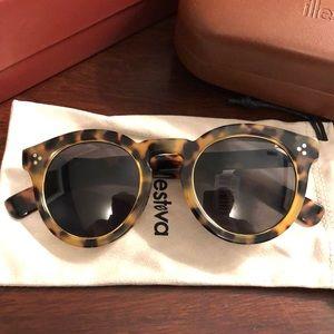 NWT Illesteva Leonard II Ring Tortoise sunglasses